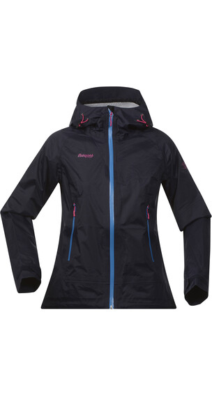 Bergans W's Sky Jacket Midnight Blue/LT Sea Blue/Hot Pink